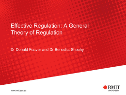 Effective Regulation: A General Theory of Regulation
