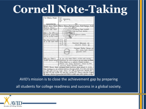 Cornell Notes PPT - Ms. Riggins` Room