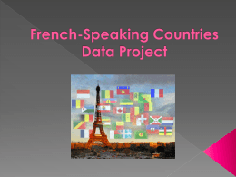 French-Speaking Countries Excel Project