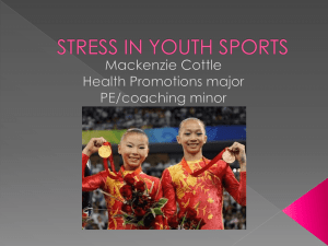 STRESS IN YOUTH SPORTS