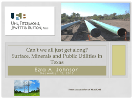 Oil & Gas Leases - Texas Association of REALTORS