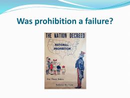 Was prohibition a failure?