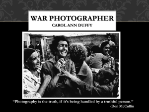War Photographer Unit Companion Powerpoint