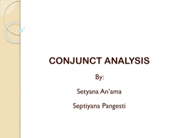 CONJUNCT ANALYSIS