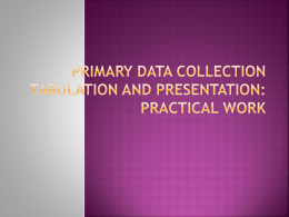 primary data collection tabulation and presentation
