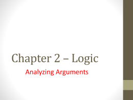 Ch 2 Analyzing Arguments