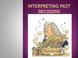 Interpreting past decisions