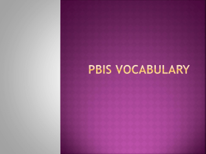 PBIS Vocabulary - BrookeBushongLearningPortfolio