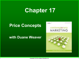 Price Concepts Chp 17