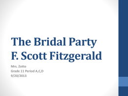 The Bridal Party F. Scott Fitzgerald