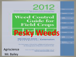 Why are weeds - WCMS Agriscience