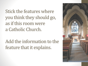 Features of a Catholic Church