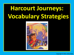 Unit 2 Lesson 10 Vocabulary Strategies Analogies