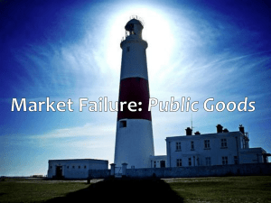 Market Failure: Public Goods