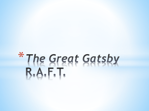 The Great Gatsby R.A.F.T.