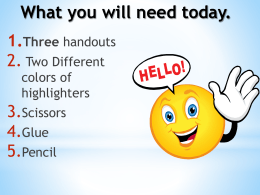 Intro to Constructed Response PowerPoint