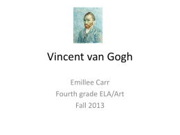 van Gogh aesthetics and criticism PowerPoint