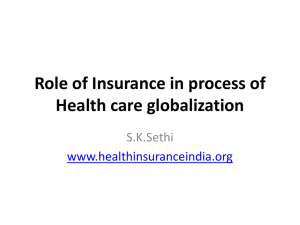 Role of Insurance in progress of Health care