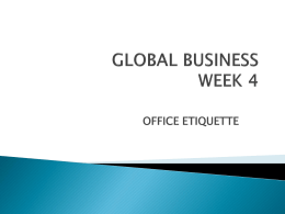 Office Etiquette - Tim Burry - Home