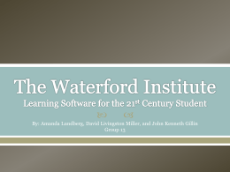 Presentation Software- The Waterford Institute