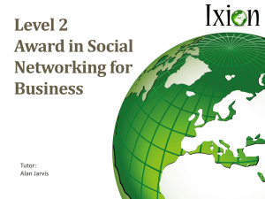 Level 2 Award in Social Networking for Business