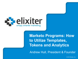 Marketo Programs