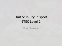 Unit 5 types of injuries lesson 1