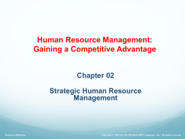 Ch.2 Strategic human resource management