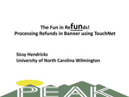 Processing Refunds - TouchNet - University of North Carolina