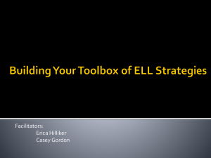 Building Your Toolbox of ELL Strategies