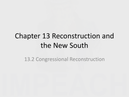 Chapter 13 Reconstruction and the New South