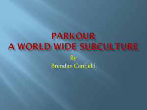 Parkour a world wide Subculture