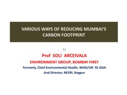 various ways of reducing mumbai*s carbon footprint