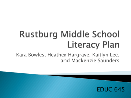 Literacy Plan PowerPoint
