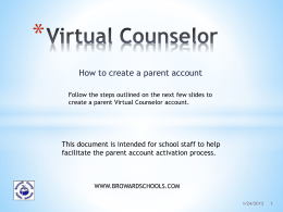 Virtual Counselor - Dillard High School