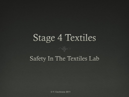 Textiles Safety Presentation