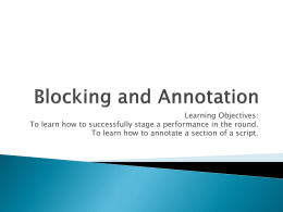 Blocking and Annotation