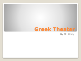 Theater history Powerpoint