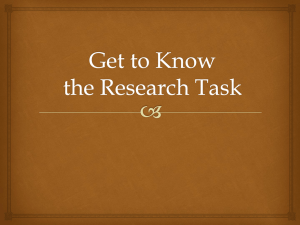 Introduction to the Research Task
