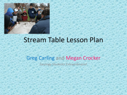 Stream Table Lesson Plan