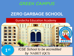 GEA Green School Campus initiative