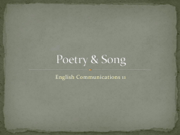 Poetry & Song