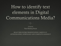 How to identify text elements in Digital