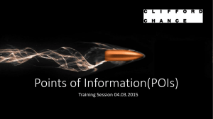 Point of Information(POI*s)