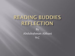 Reading-Buddies-Reflection