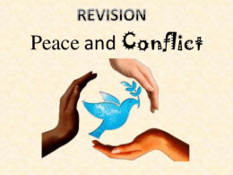 Revision Lesson Peace and conflict