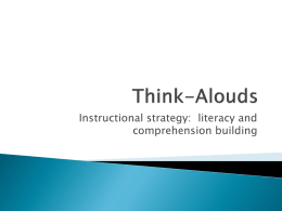 Think Alouds Powerpoint