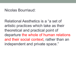 Relational Aesthetics / The Collective