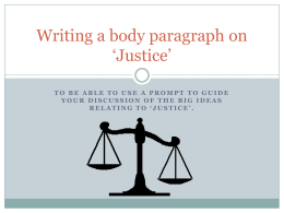 Writing a body paragraph on `Justice` - Year10English-SSC