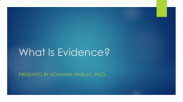 What-Is-Evidence - Standard for Success